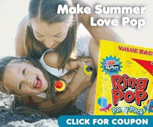 Moms grew up with Ring Pops, and now you can share them with your kids.  Sure, we know that Ring Pops are amazing, tasty treats, but did you know they're also a great way to create summer fun for your kids? Make the summer pop with Ring Pop Party Packs! Ring Pop Party Packs are the perfect accessory for every summer occasion.  So start celebrating and start saving with a coupon for the Ring Pop Party Pack. http://ifreesamples.com/enjoy-1-50-printable-coupon-ring-pop/