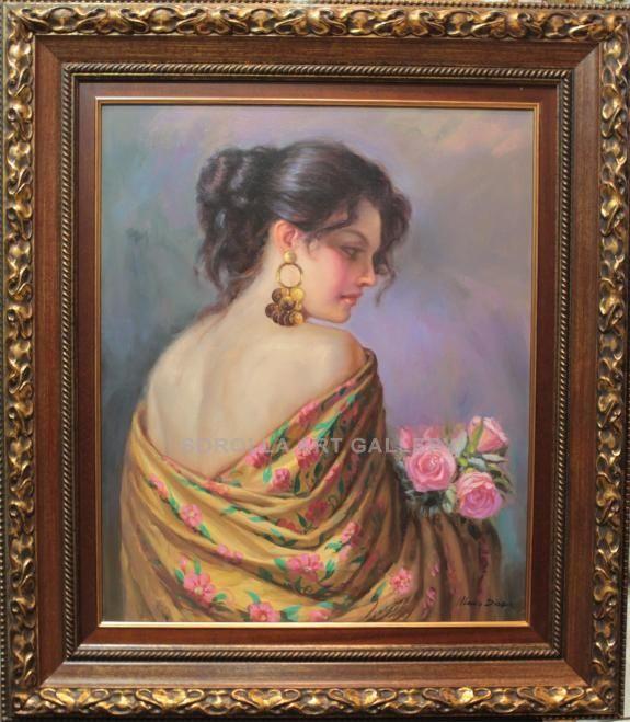 Mario diaz gitana con rosas venta de cuadros en la for Galeria de arte sorolla