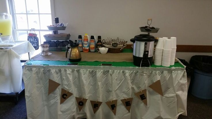 Coffee bar contained biscotti, thin mints and chocolate covered spoons!