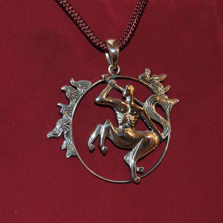 Centaur necklace, Hercules teacher pendant, Silver centaur pendant, Handmade…