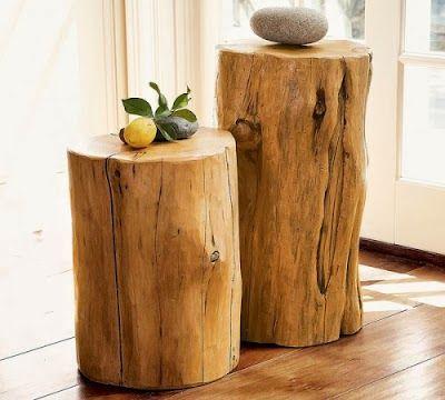 MI RINCÓN DE SUEÑOS Hacer una mesa con un tronco