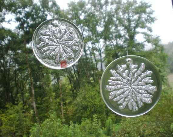 Hadeland Norway Vintage Kristallen Suncatchers/pressepapers