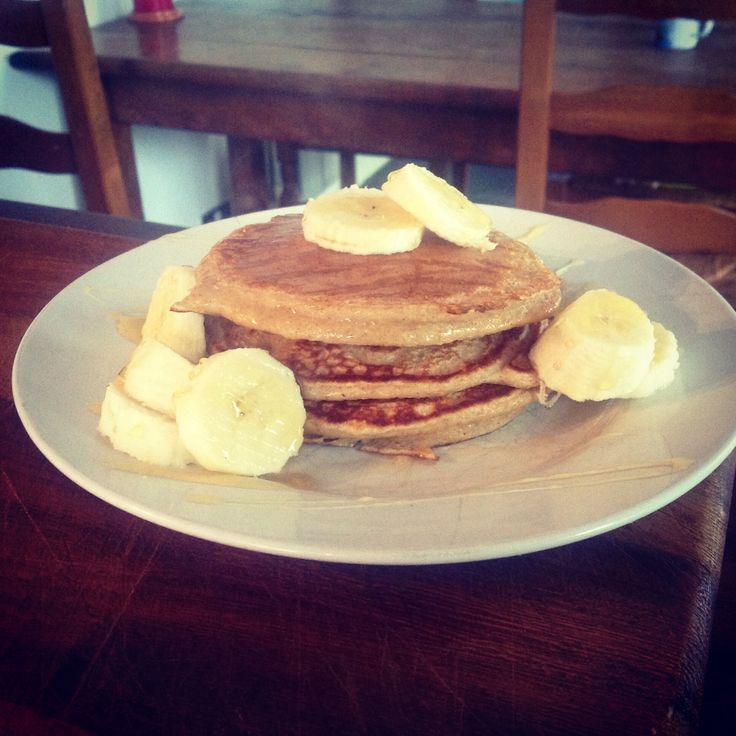 Clean and lean pancakes from James Duigan clean and lean diet cook book, delicious, I think these are even better than your normal pancakes!