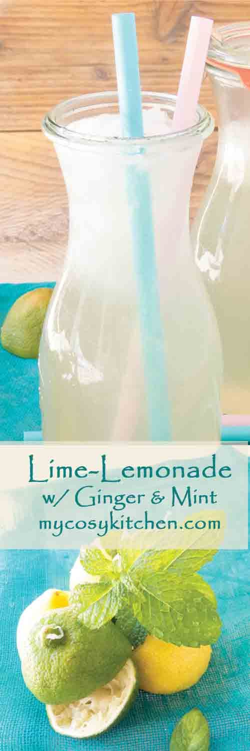 Lime-Lemonade….I know, I know, when it is made with lime it's called Limeade, when it is made with Lemon it is Lemonade… But since this is a 50/50 case It's called Lime-Lemonade and it is refreshing!!