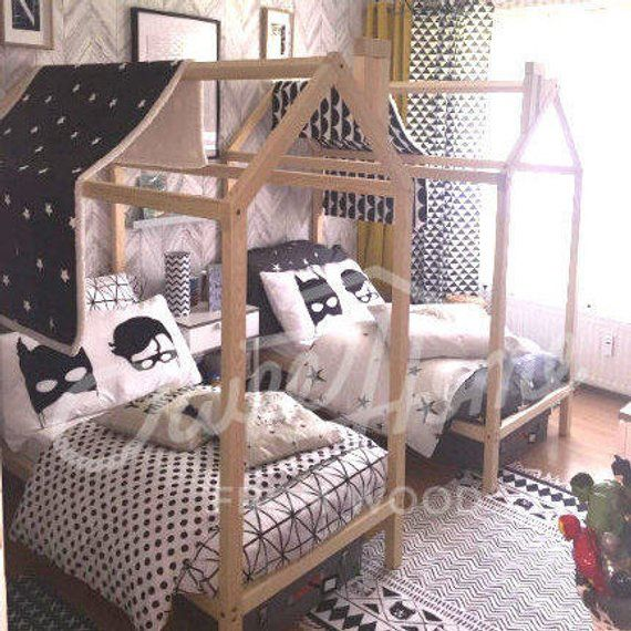 Children Bed Baby Bed Wood Bed Frame Bed Twin Size Montessori