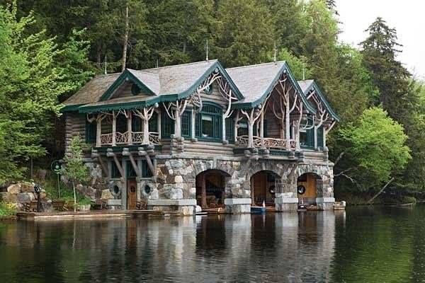 Boat House, Camp Topridge, New York, USA photo via maryanne