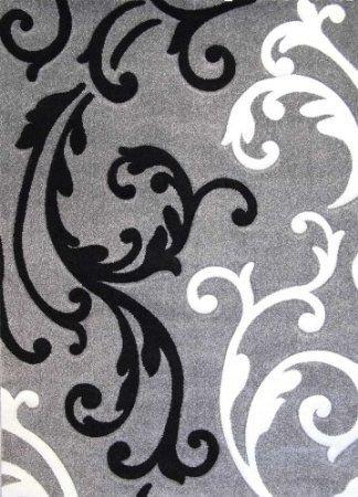 Amazon.com: Modern Area Rug Design # H 290 Gray (8 Feet X