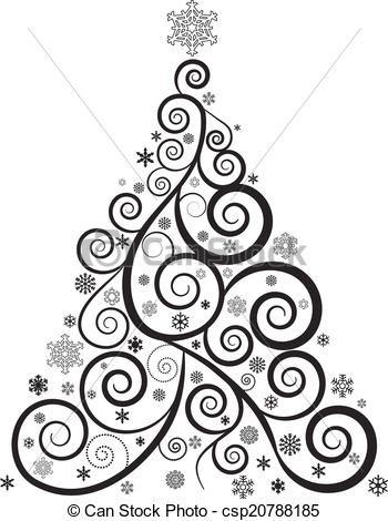 木, クリスマス, 華やかベクトル - ストックイラスト, ロイヤリティーフリーイラスト, ストッククリップアートアイコン, ロゴ, ラインアート, EPS画像, 画像, グラフィック, ベクター画像, アートワーク, EPSベクターアート
