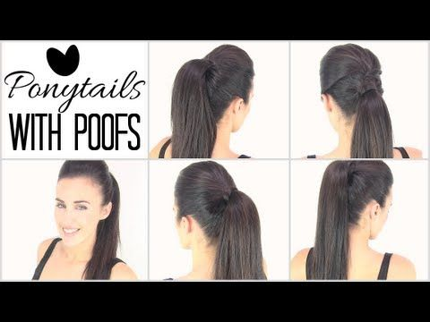 How To Create The Perfect Pouf | Hairstyles And Quick Ponytail Tricks - YouTube