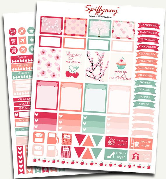 Cherry Planner Stickers  Spring Planner by Spiffyway https://www.etsy.com/listing/255446442/50-sale-cherry-planner-stickers-spring?ref=shop_home_listings