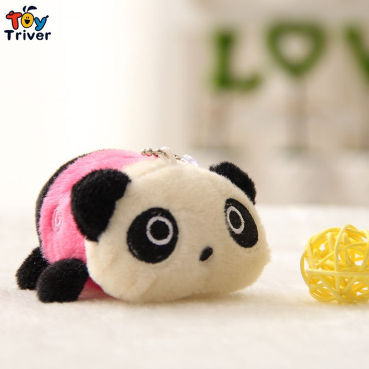 $95.99! Wholesale 100pcs cartoon small panda doll mobile phone key chain pendant plush toy wedding birthday party cheap gift present Triver Toy