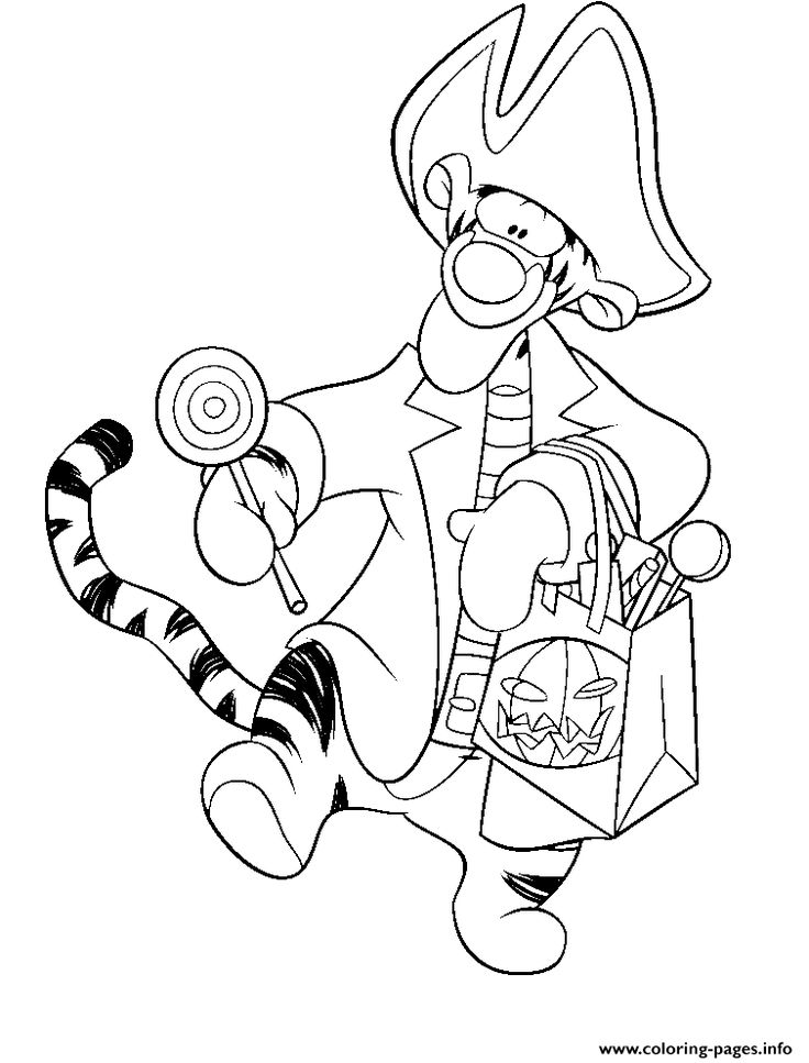 68 best Coloring Pages Disney Halloween images on Pinterest