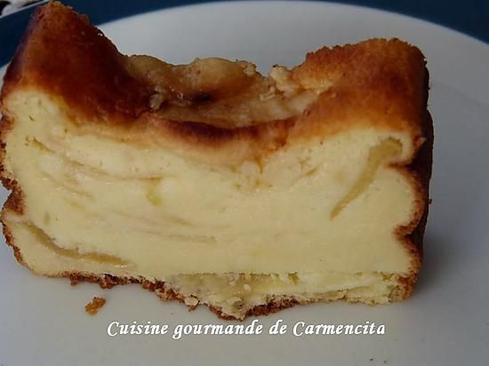 recette Gâteau à la brousse et aux pommes