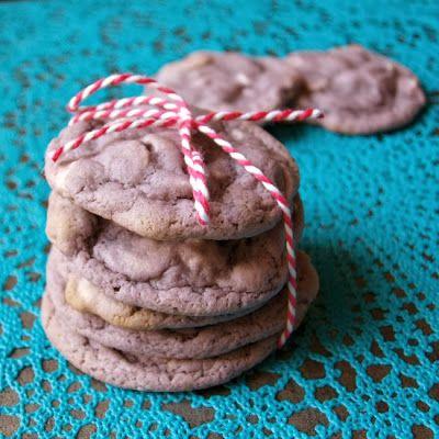 Taro White Chocolate Chip Cookies