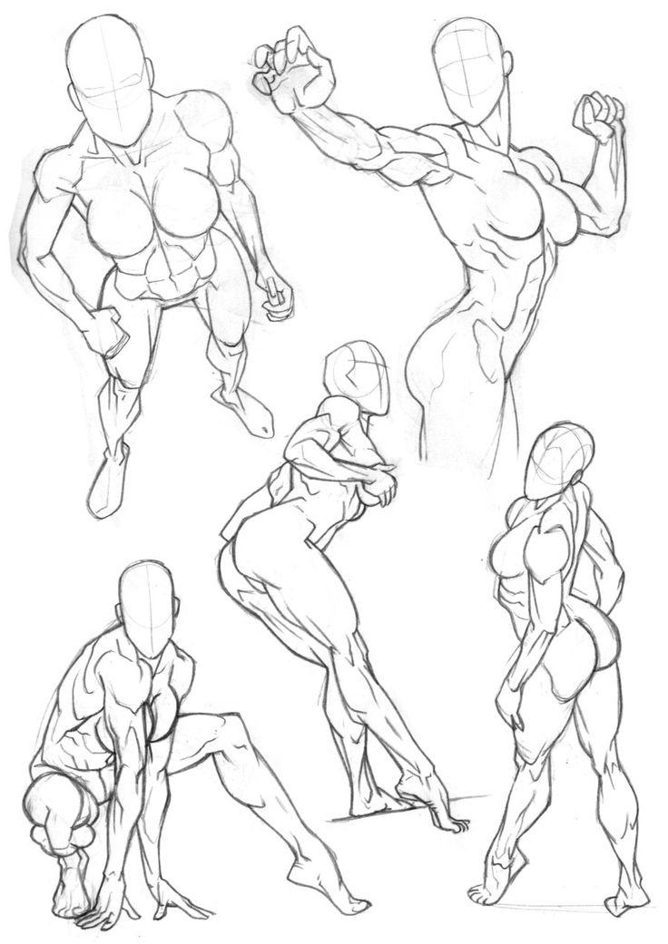 Sketchbook Figure Studies 5 by Bambs79 on deviantART