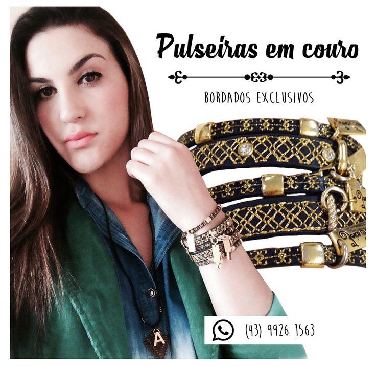 JT Black Leather Bracelet