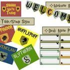 Classroom Decoration and Organization Set: Harry Potter Theme