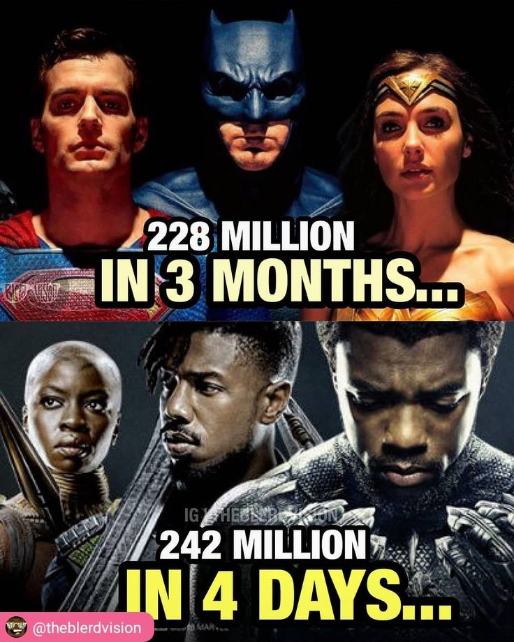 #RepostSave @theblerdvision with @repostsaveapp  The real reason #BlackPanther is doing so much better than #JusticeLeague in the box office.  If you wouldve told me 10 years ago that a BLACK PANTHER movie with an almost all black cast would out-perform a movie featuring #Batman #Superman #Wonderwoman and #TheFlash I wouldve called you crazy!  These crazy times we live in... #WakandaForever