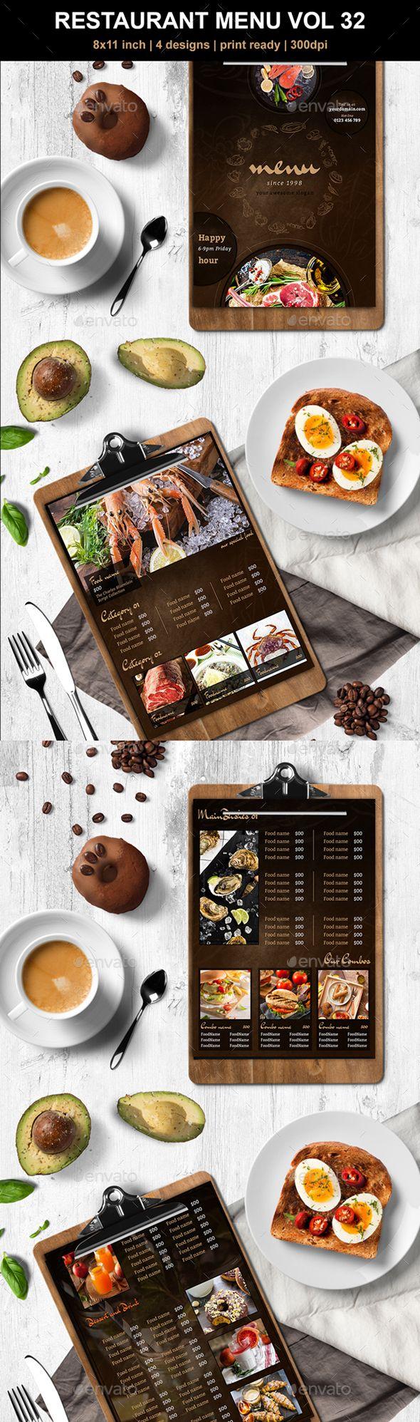 #Restaurant #Menu Vol 32 - #Food Menus Print Templates