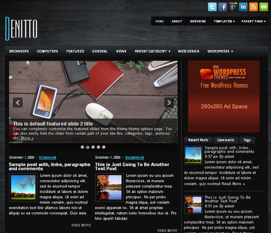 Denitto Free Wordpress Theme
