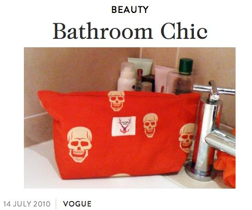 Featured on Vogue Online  www.vogue.co.uk