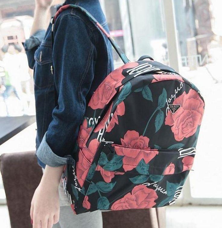 Купить 2016 мода печать школьников сумки женщины роуз рюкзаки высокое качество дважды плеча холст рюкзак 66и другие товары категории Рюкзакив магазине YI-Love Fashion BagsнаAliExpress. рюкзак монограммой и женщины рюкзак сумка