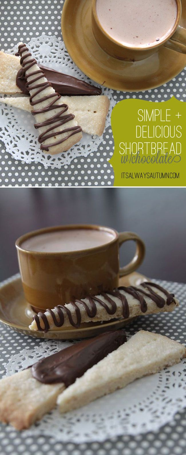Best ever easy shortbread cookie recipe. I love shortbread desserts in the fall with a cup of my favorite hot tea!