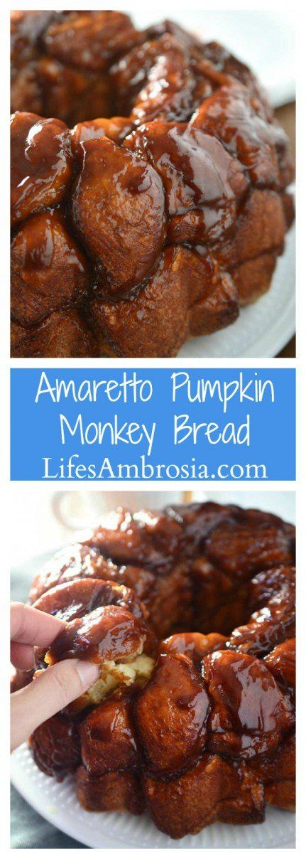 A fall twist on monkey bread, this Amaretto Pumpkin Monkey Bread is sweet, decadent and easy to make!