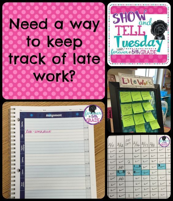 Manage your students' late work with these handy tips at Forever in Fifth Grade!