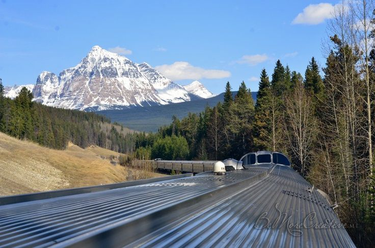 Across Canada Roadtrip, Train Through the Rockies