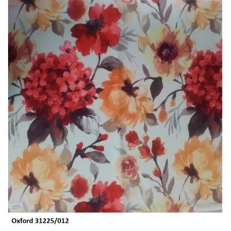 Tkanina zasłonowa Oxford Hortensja
