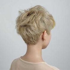 Pixie cut from behind