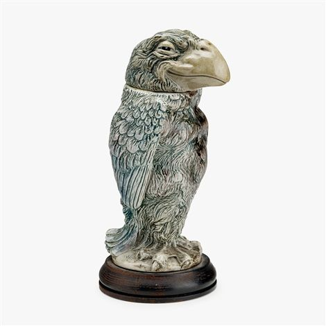 "SALT-GLAZED STONEWARE ""WALLY BIRD"" TOBACCO JAR, CIRCA 1884-91 by Martin Brothers"