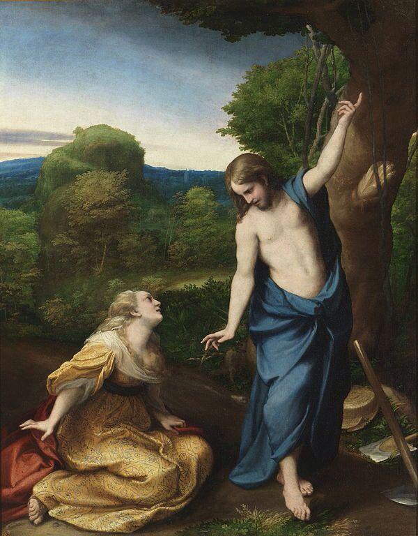 Noli me tangere  Antonio Allegri da Correggio 1515