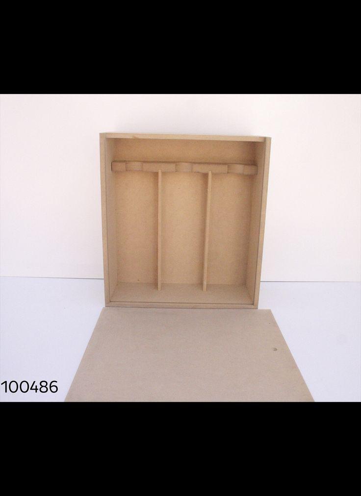 CAJA TAPA COLIZA PARA 3 BOTELLAS DE VINO MDF 35X31 H12 CM Cod. 100486