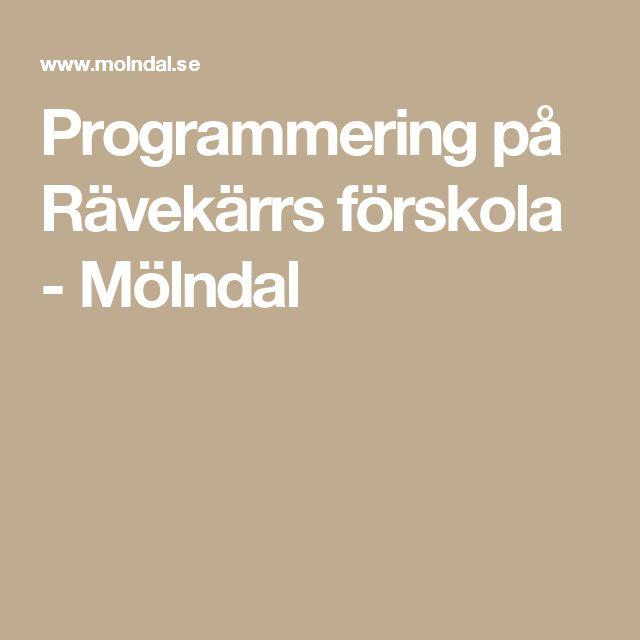 Programmering på Rävekärrs förskola - Mölndal
