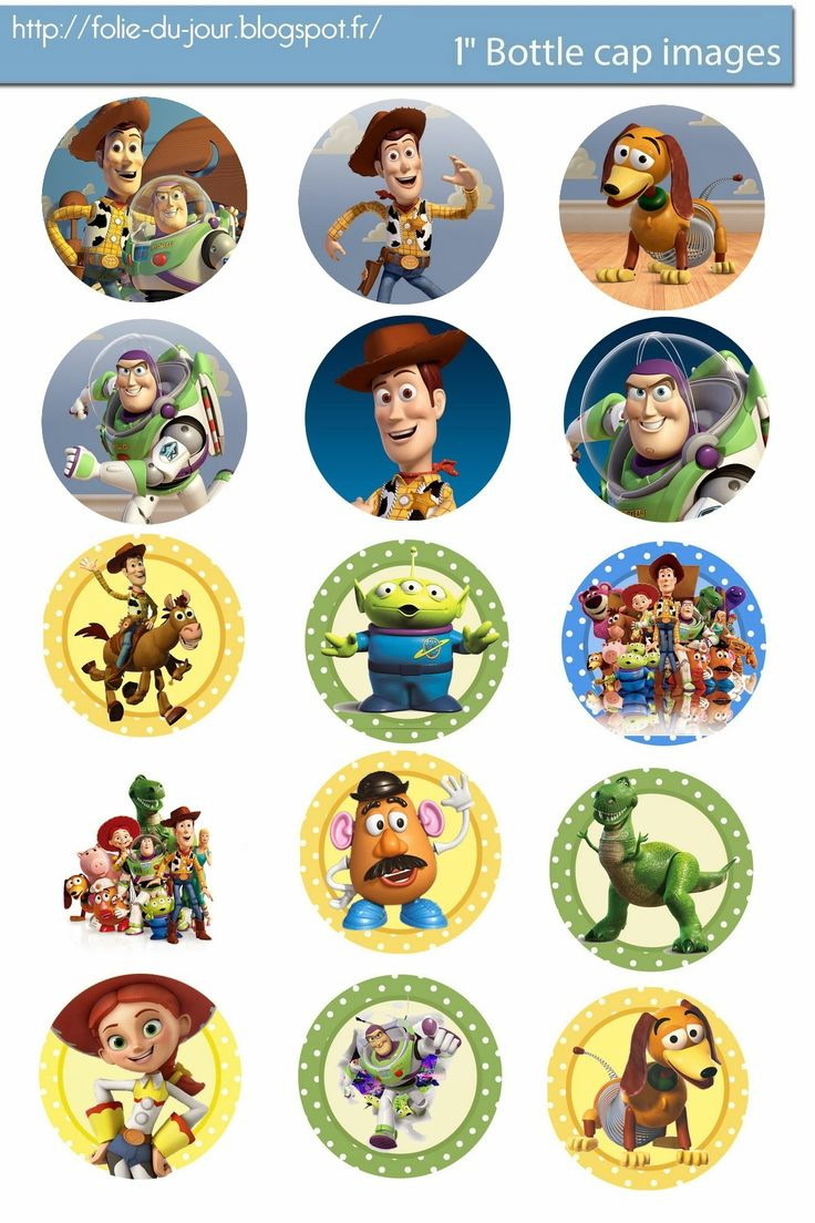 Folie du Jour Bottle Cap Images: Free Toy Story digital bottle cap images