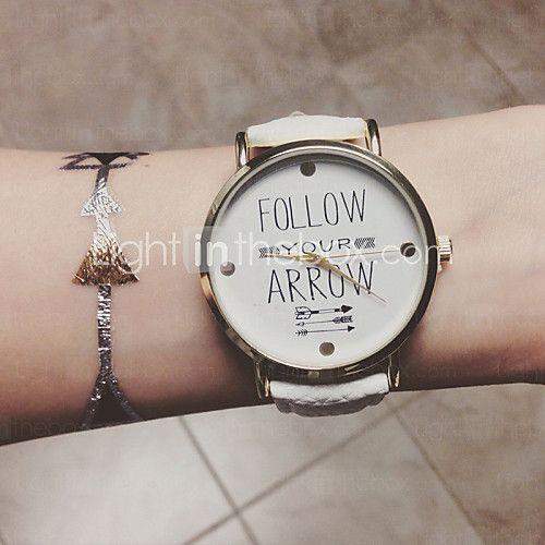 arrow horloge vrouwen horloges lederen horloge vriendje horloge dameshorloge citaten bohemien horloge - USD $7.99