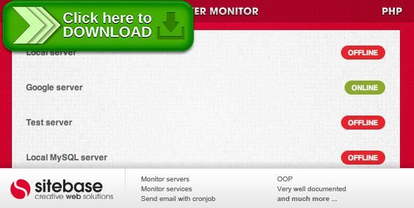 [ThemeForest]Free nulled download Server monitor from http://zippyfile.download/f.php?id=53276 Tags: ecommerce, email, offline, online, ping, port scanner, report, script, server, server monitor, services, system status, uptime