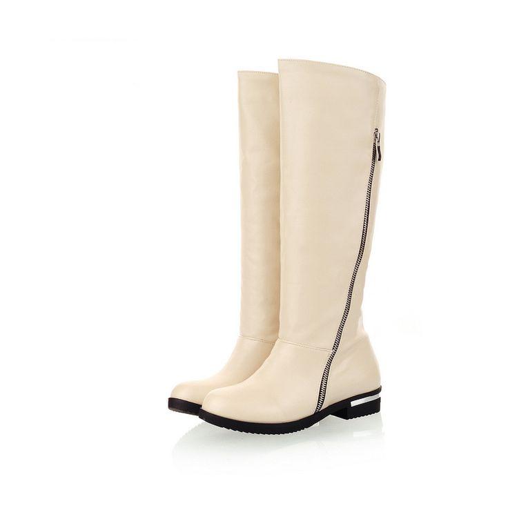 Большой шкаф горячие мода сексуальный черный коричневый бежевый женщины колено высокие сапоги для верховой езды дамы ню обувь A7332 почтовый удобные