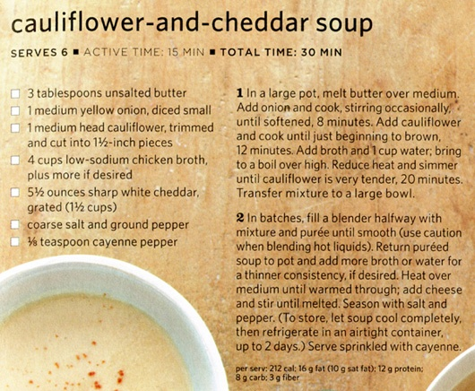 Cauliflower and cheddar soup | Recipes | Pinterest