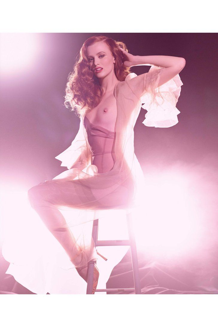 Pin for Later: The NSFW 2015 Pirelli Calendar Will Fog Up Your Screen Miss September Karen Elson