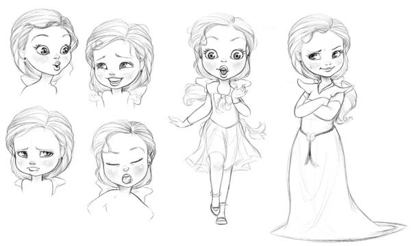 Sofia the First - Expression Sheet on Behance