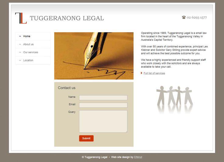 Tuggeranong Legal | from Elfshot Web Design Folio