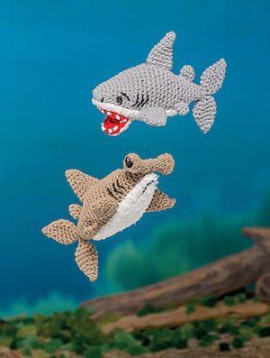Hammerhead Shark Amigurumi : Great White Shark and Hammerhead Shark - USD14.99 (as part ...