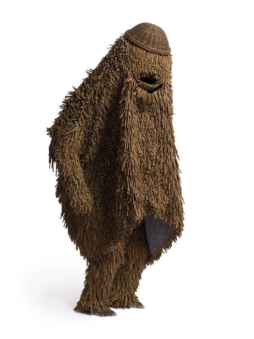 "Soundsuit by Nick Cave (2011) - at Jack Shainman Gallery in New York, NY; made of dogwood twigs, wire, upholstery, and mannequin; 92"" x 45"" x 31"""