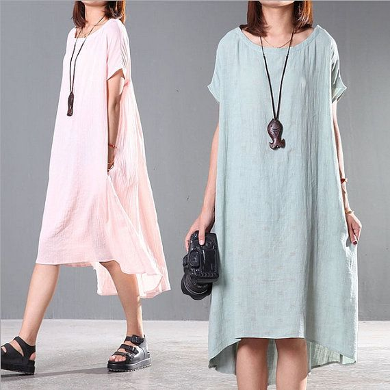 Hey, I found this really awesome Etsy listing at https://www.etsy.com/listing/262334587/3-color-loose-fitting-gown-summer-cotton