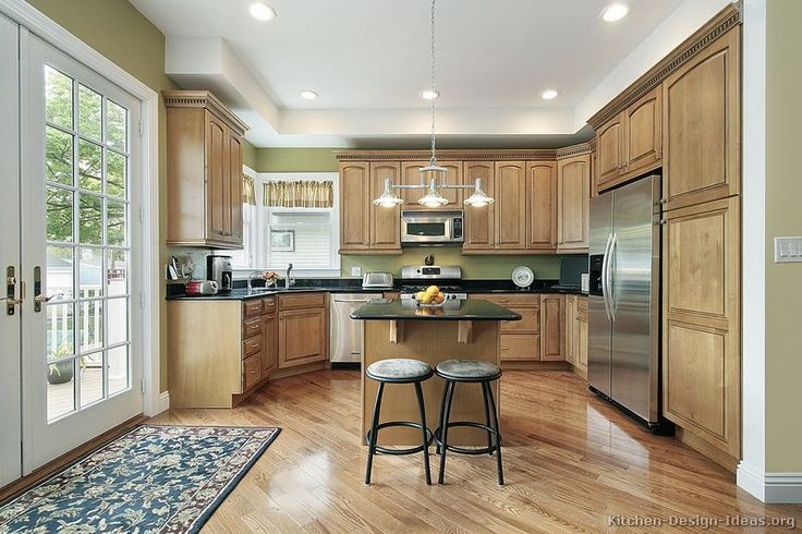 #Kitchen Idea of the Day: Natural & light wood kitchens gallery.