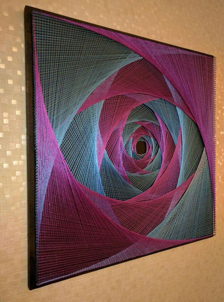 """Картина """"Космическая роза"""" из гвоздей и ниток, в технике #stringArt . Изготовлю на заказ, возможны разные цвета и размеры, пишите"""