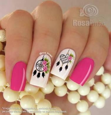Resultado de imagen para decoracion de uñas con atrapasueños